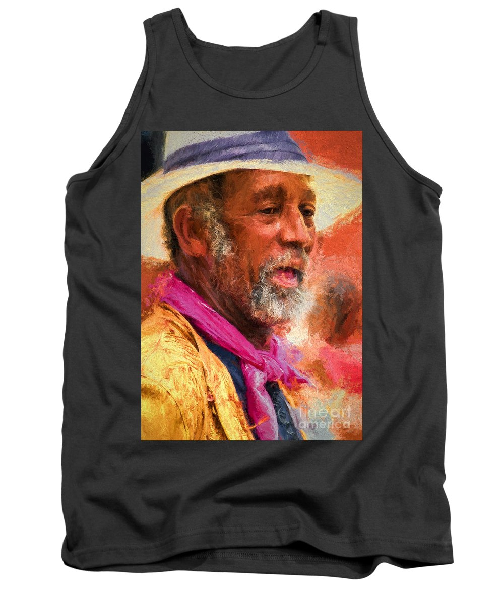 Man Tank Top featuring the photograph Portrait Of Dr. Luv - Painting by Kathleen K Parker