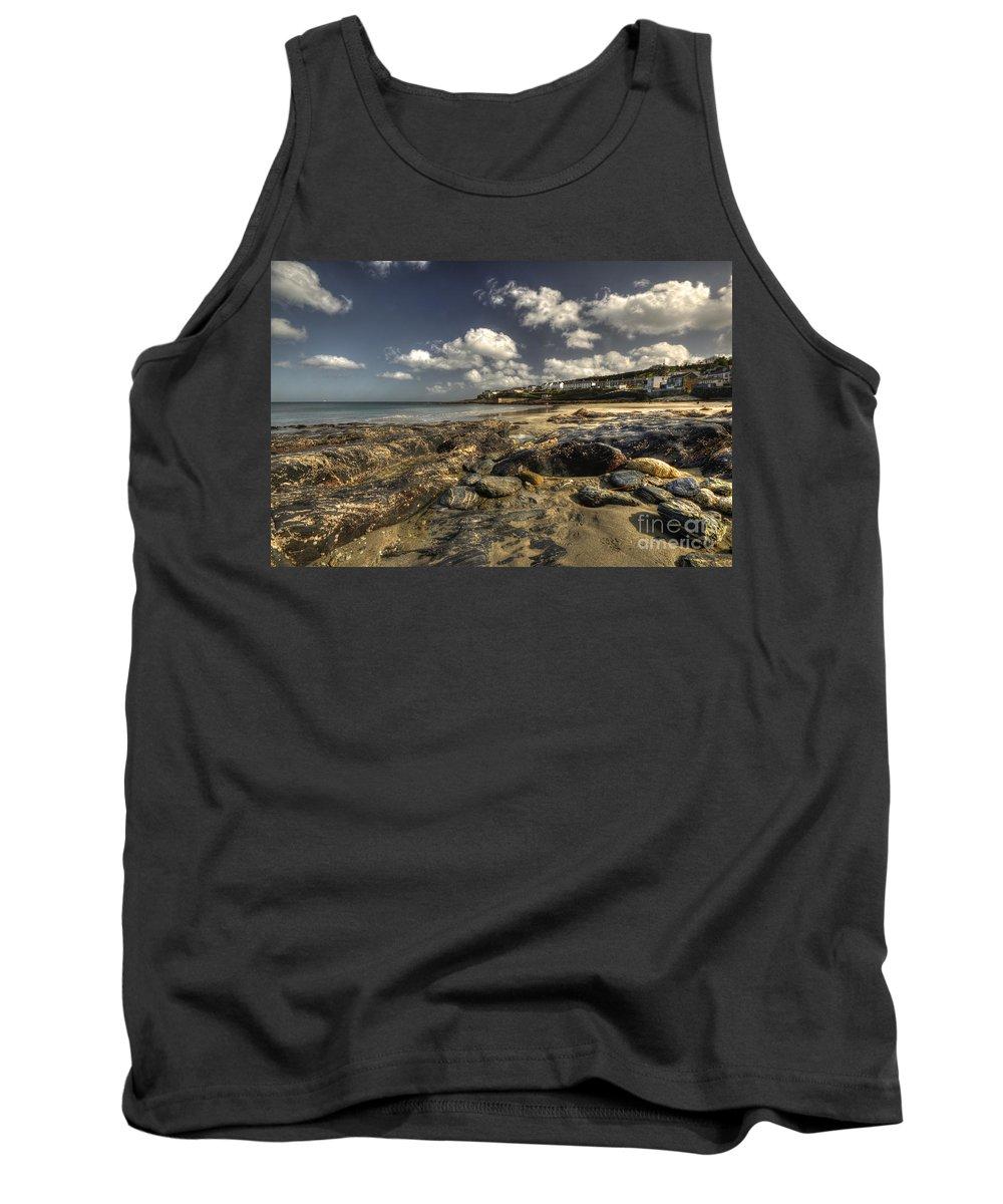 Portscatho Tank Top featuring the photograph Portscatho Beach by Rob Hawkins