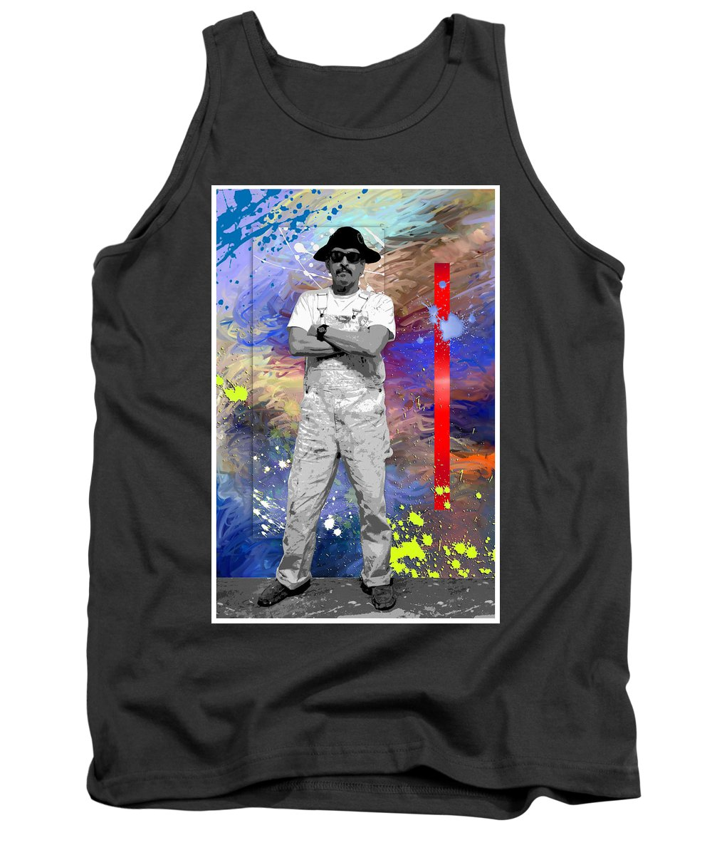 Poster Tank Top featuring the painting Poster Number 2 by Snake Jagger