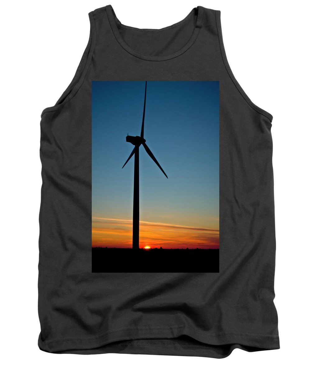 Windmill Tank Top featuring the photograph Powerful Sunrise by Albert Seger