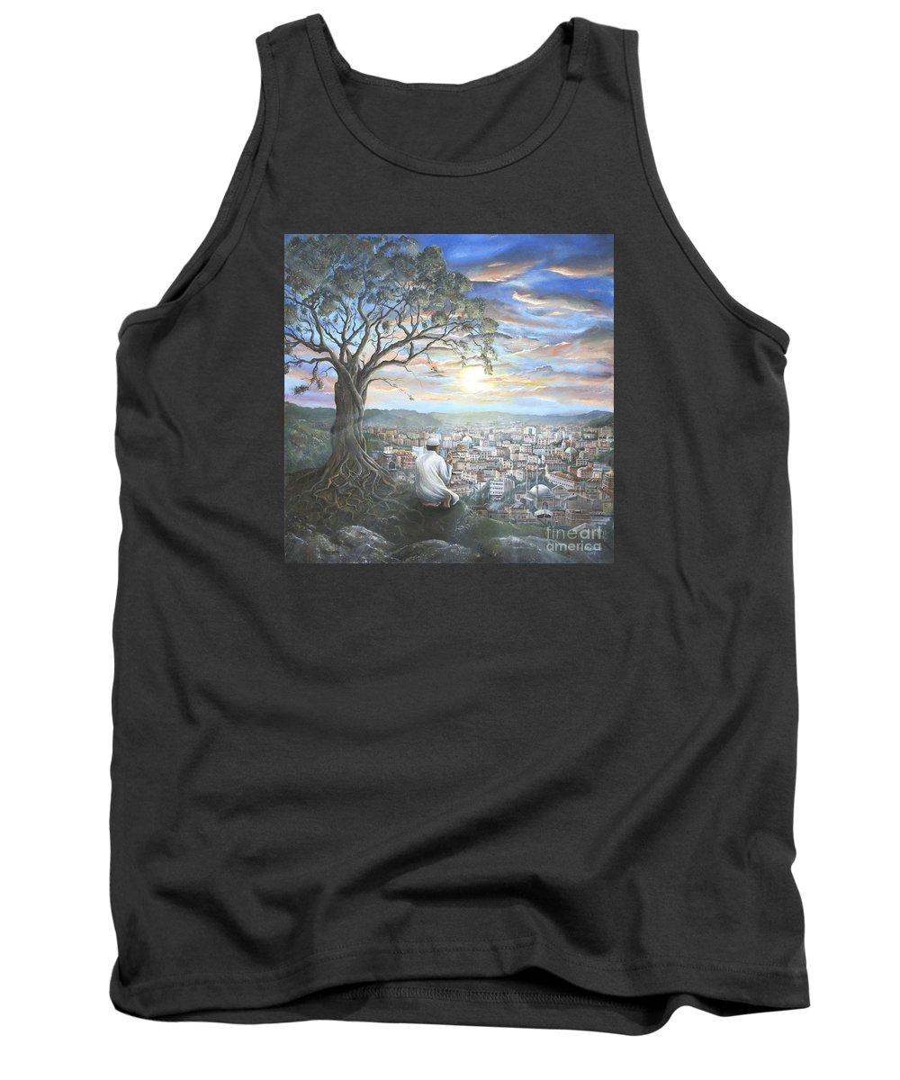 Turkey Tank Top featuring the painting Prayer For Soma by Carol Bostan