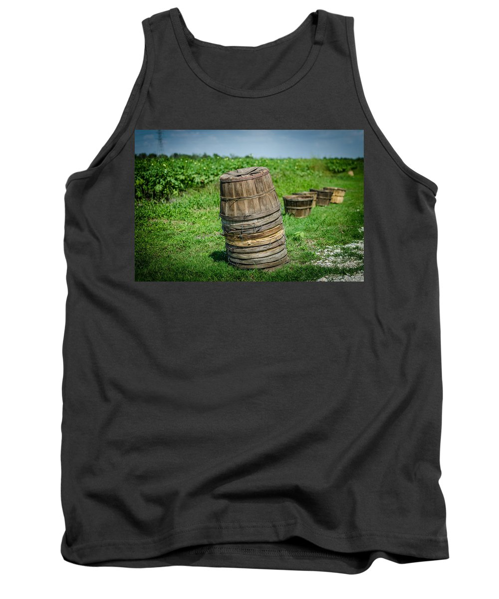 Okra Tank Top featuring the photograph Preparing For The Harvest by David Morefield