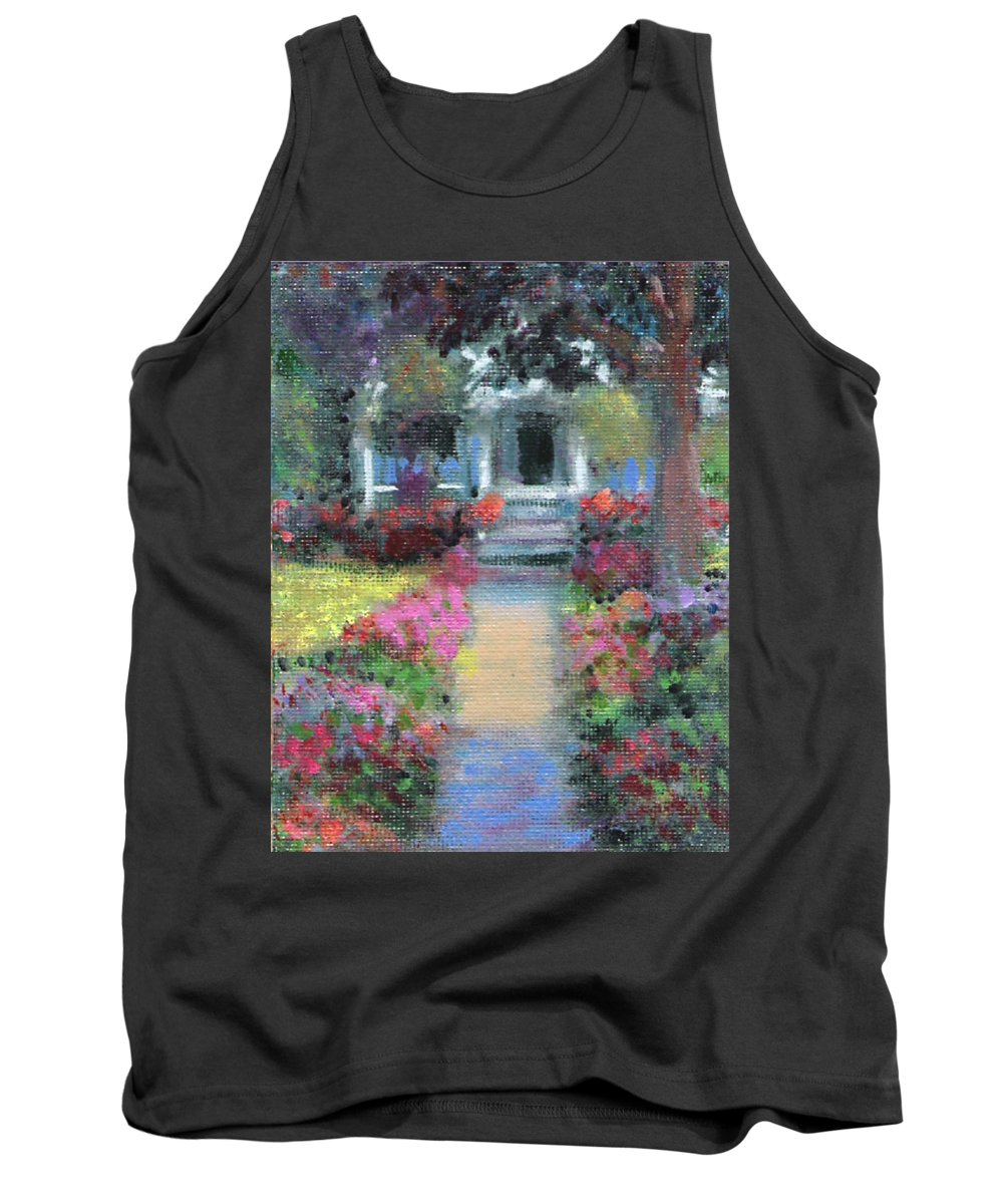 House Portrait Paintings Tank Top featuring the painting Pretty Bungalow Study 2 by David Zimmerman