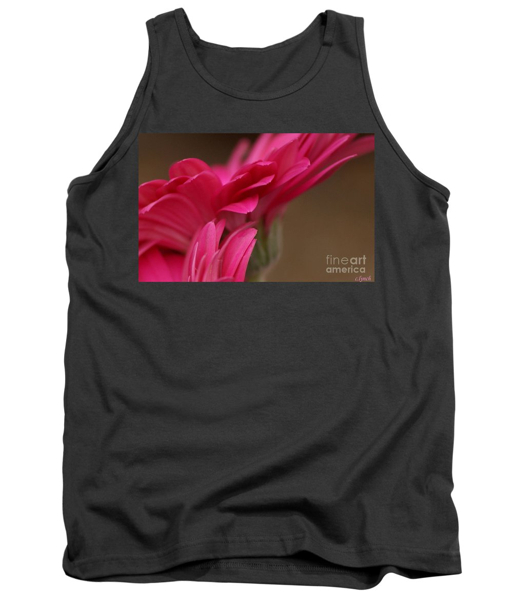 Pink Tank Top featuring the photograph Pretty Petals by Carol Lynch
