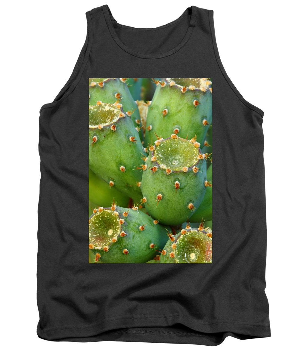 Cactus Tank Top featuring the photograph Prickly Pear Cactus 2am-105306 by Andrew McInnes