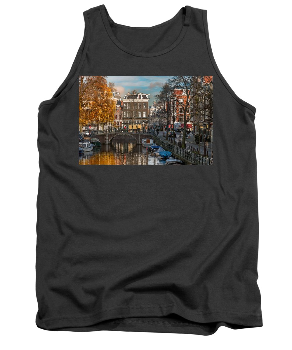 Holland Amsterdam Tank Top featuring the photograph Prinsengracht 807. Amsterdam by Juan Carlos Ferro Duque