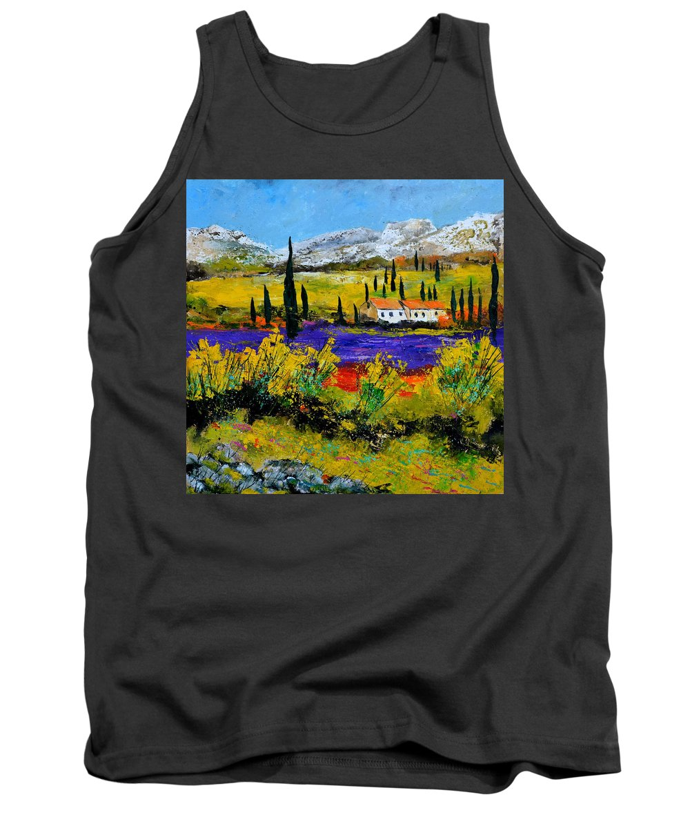 Landscape Tank Top featuring the painting Provence 885120 by Pol Ledent