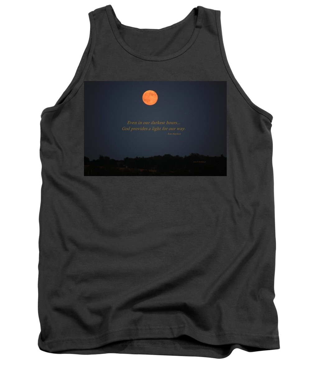 Moon Tank Top featuring the photograph Provided Light by Kim Blaylock