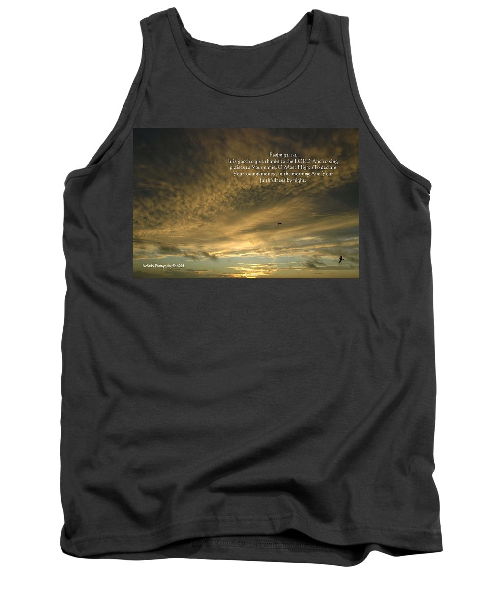 Morning Tank Top featuring the photograph Psalm 91 by Roe Rader