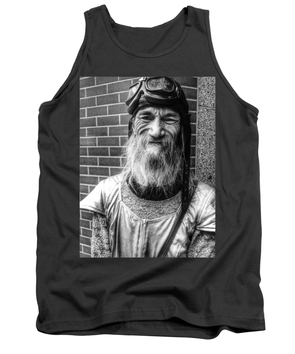 Street Tank Top featuring the photograph Punk Rock Smile by The Artist Project