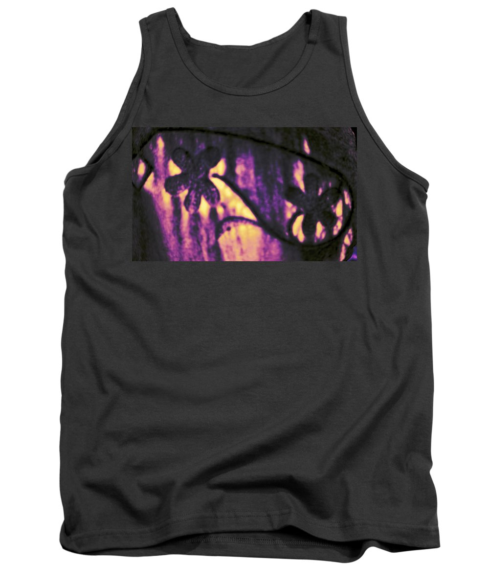 Tank Top featuring the digital art Purple Abstract by Cathy Anderson