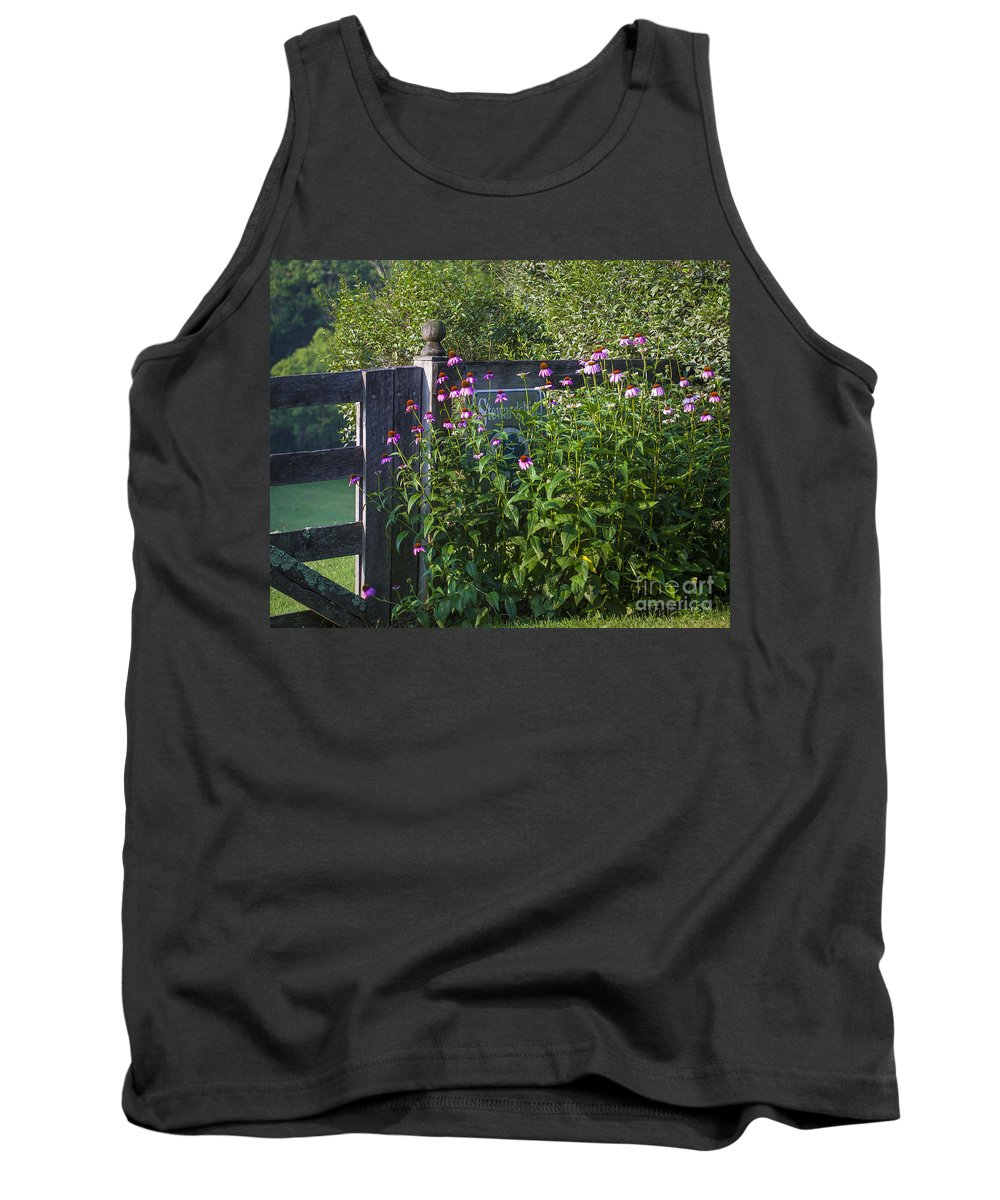 Eastern Purple Coneflower Tank Top featuring the photograph Purple Coneflower by Ronald Lutz