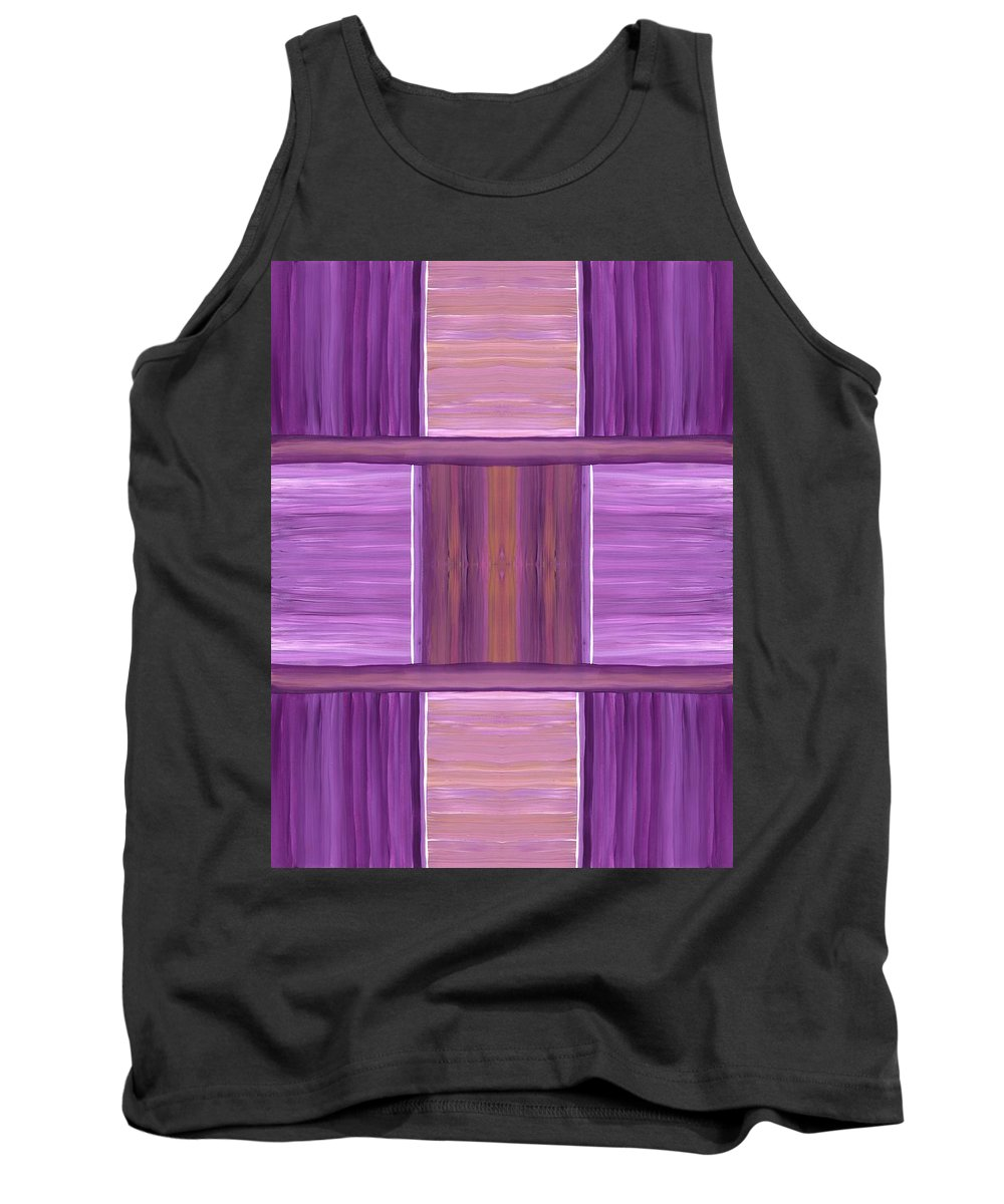 Purple Tank Top featuring the painting Purple Dreams Squares by Barbara St Jean