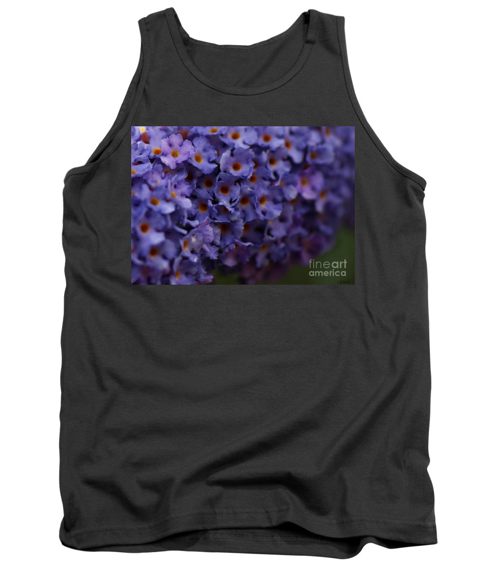 Purple Tank Top featuring the photograph Purple Flowers 2 by Carol Lynch