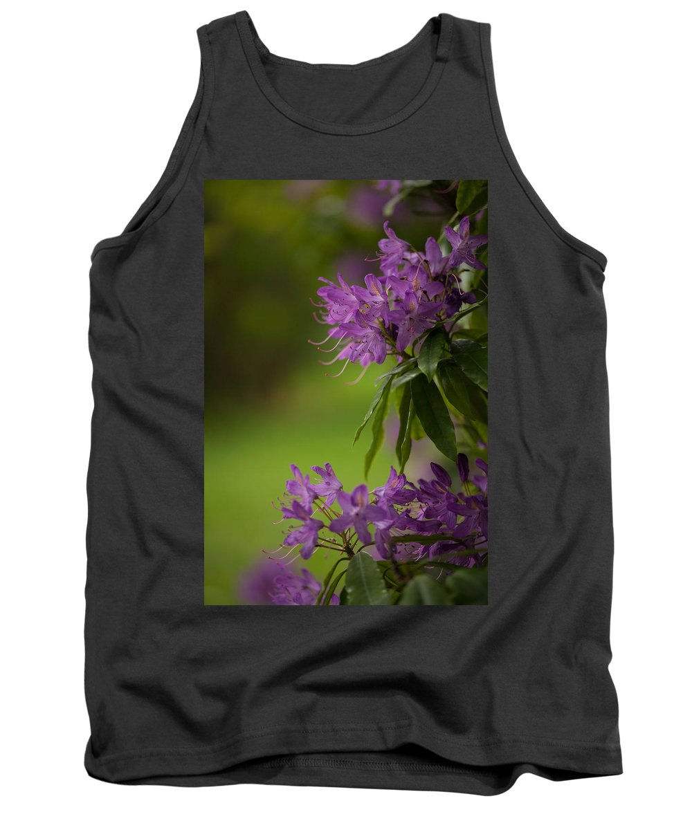 Flower Tank Top featuring the photograph Purple Light by Mike Reid