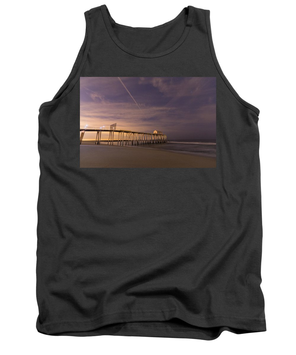 Belmar Tank Top featuring the photograph Purple Pier by Kristopher Schoenleber