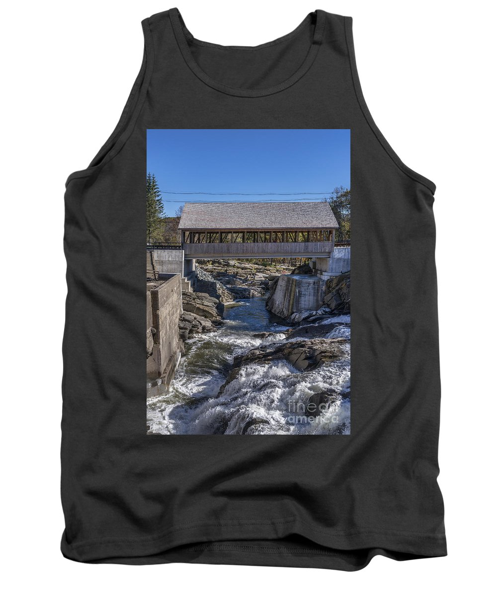 America Tank Top featuring the photograph Quechee Covered Bridge by John Greim