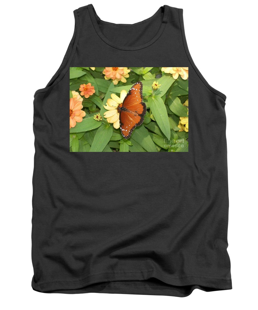 Butterfly Tank Top featuring the photograph Queen Butterfly by Laurie Eve Loftin