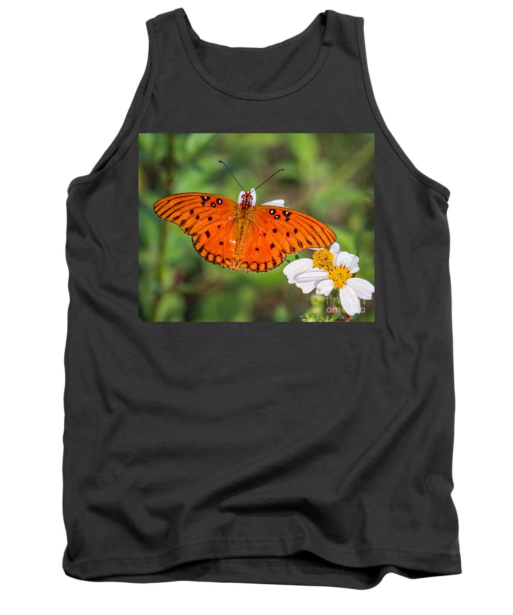 Insects Tank Top featuring the photograph Queen Butterfly by Ronald Lutz
