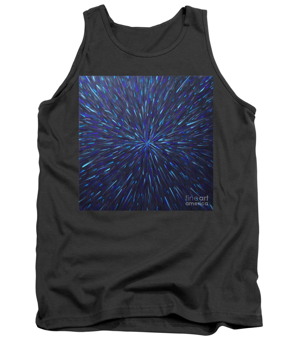 Abstract Tank Top featuring the painting Radiation Grey by Dean Triolo