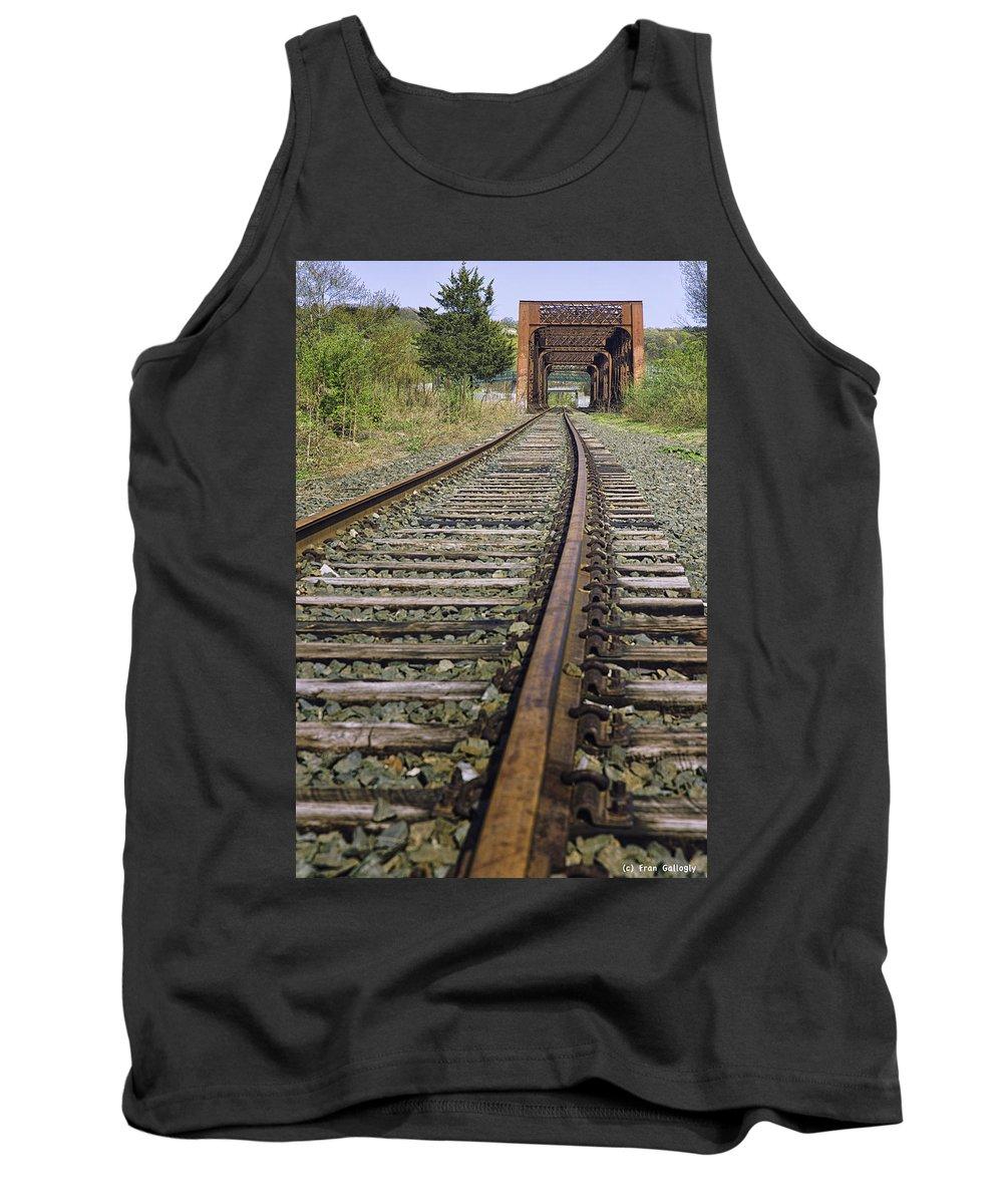 Bridge Tank Top featuring the photograph Railroad Bridge by Fran Gallogly