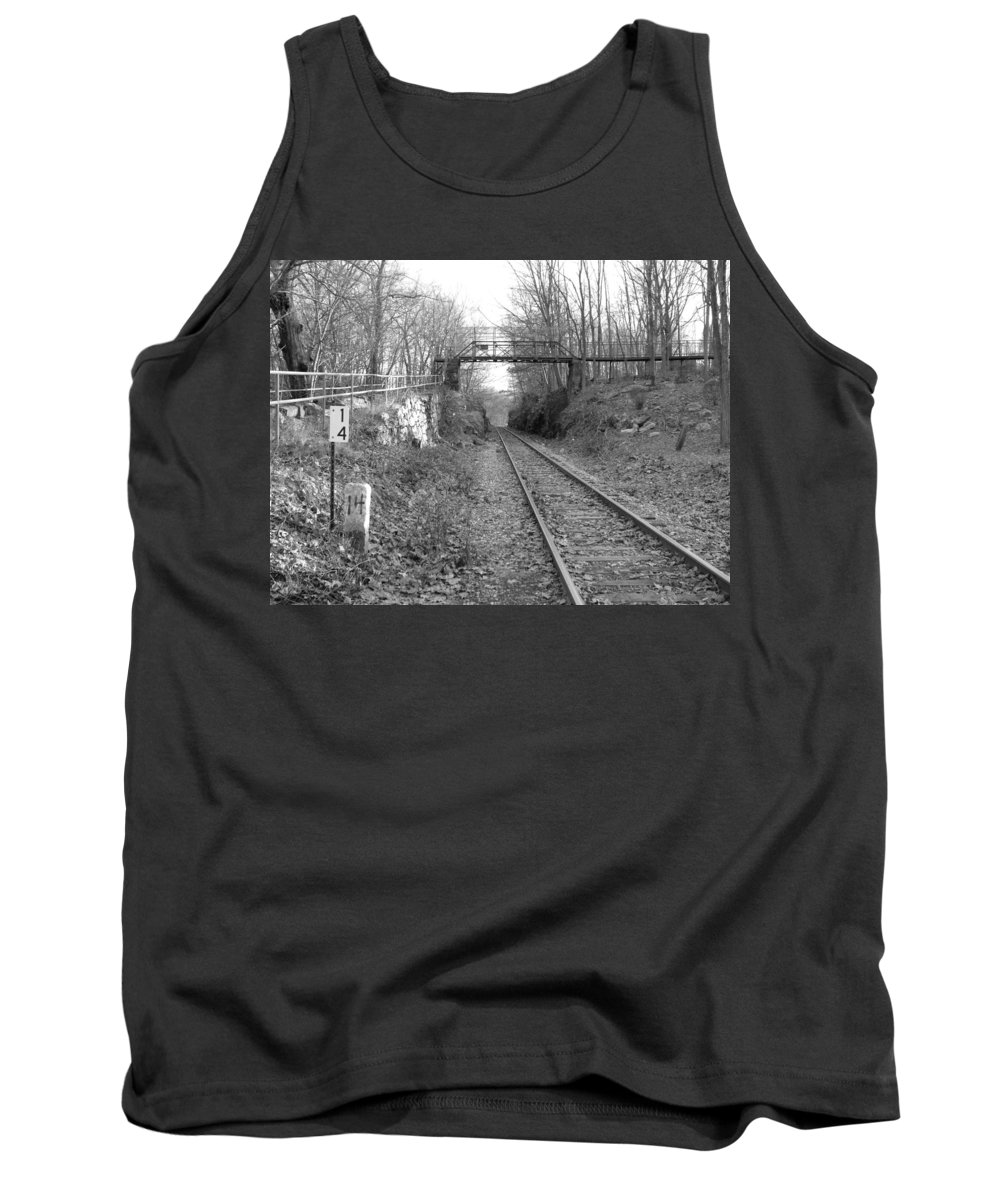 Railroad Tank Top featuring the photograph Rails by Geoffrey McLean