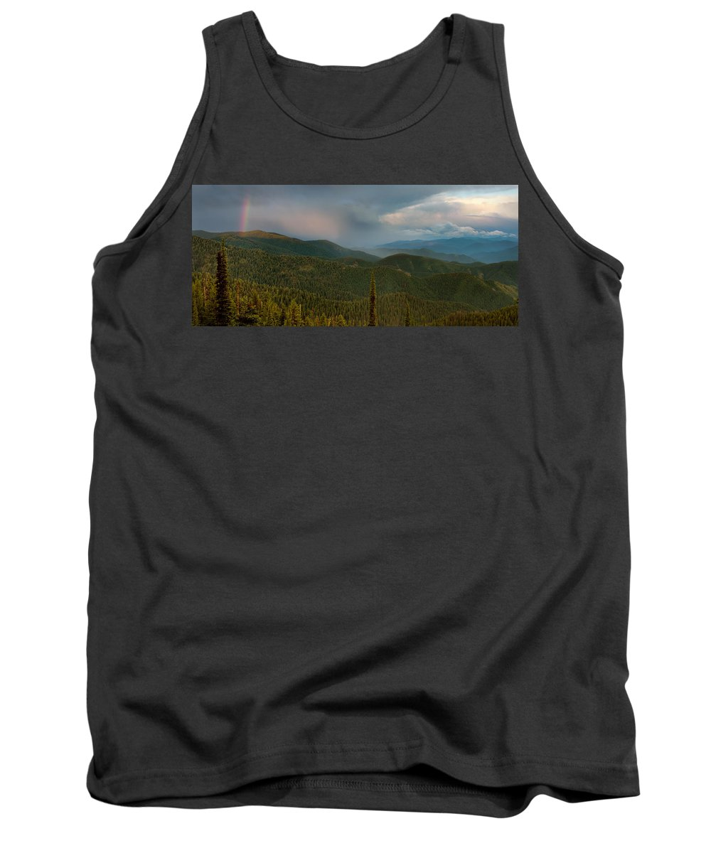 Lochsa River Tank Top featuring the photograph Rainbow From The Lolo Trail by Leland D Howard