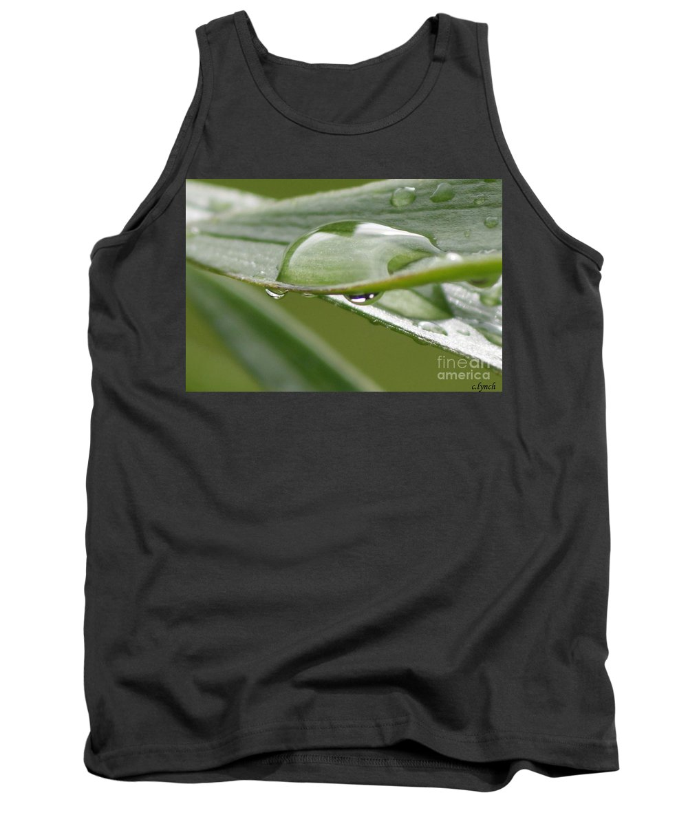 Raindrop Tank Top featuring the photograph Raindrops by Carol Lynch