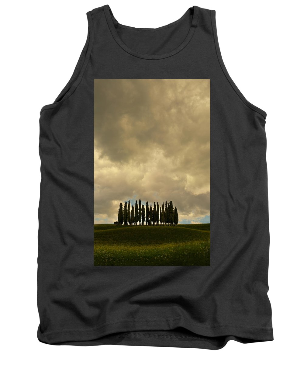 Landscape Tank Top featuring the photograph Rainy Day In Toskany by Jaroslaw Blaminsky