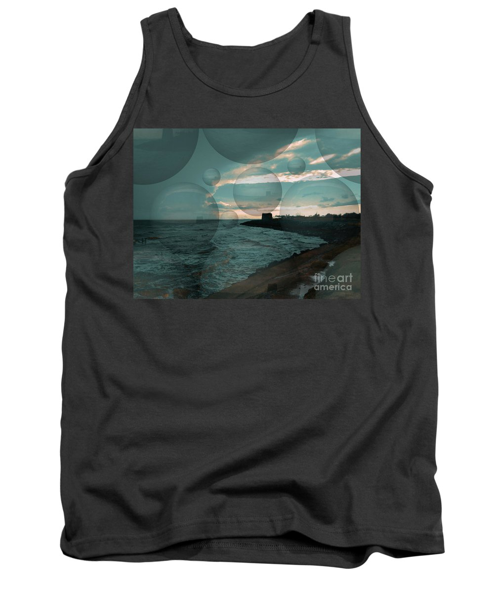 Water Tank Top featuring the digital art Rainy Skies by Chris R Kitchener