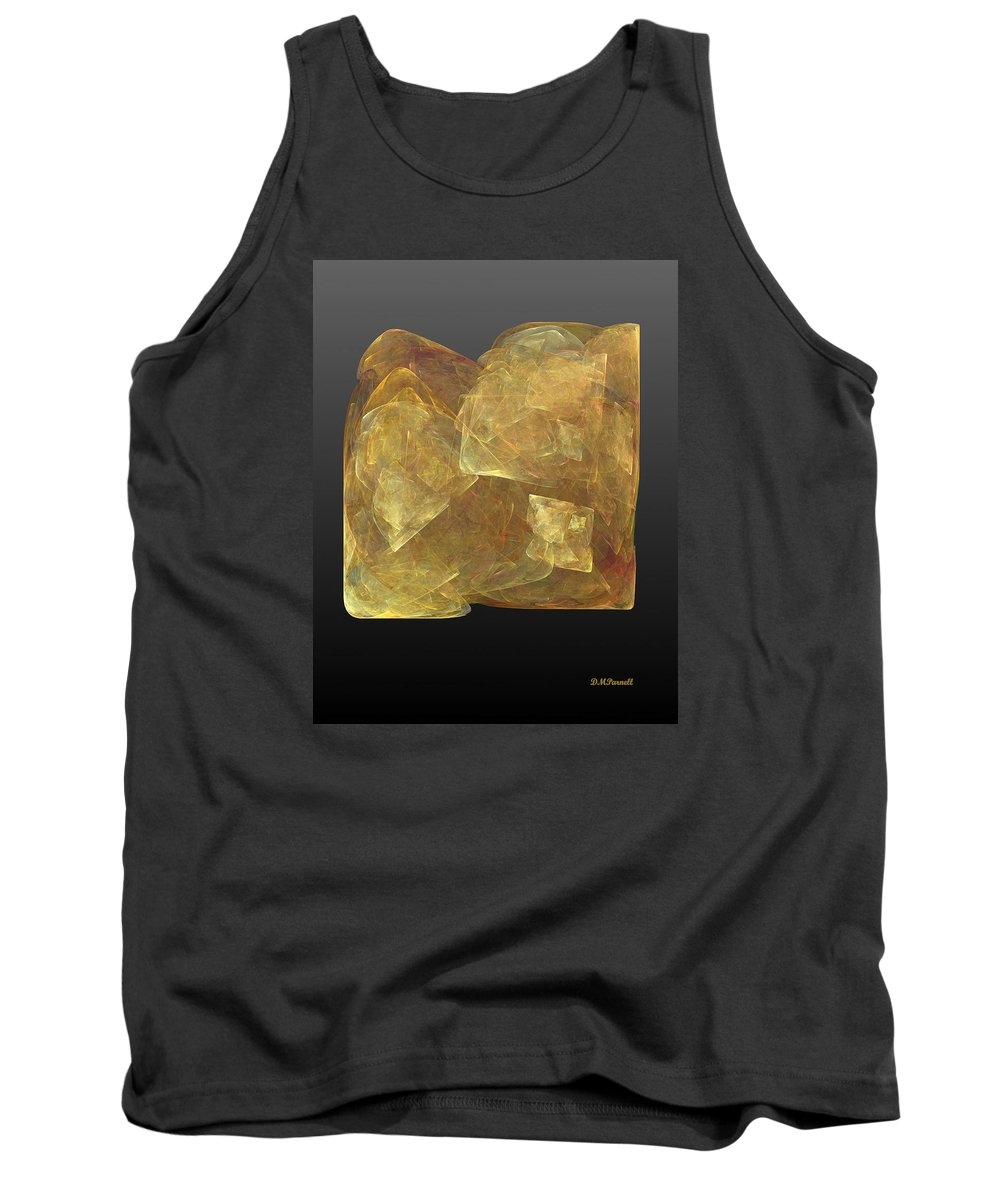 Topaz Tank Top featuring the digital art Raw Topaz by Diane Parnell