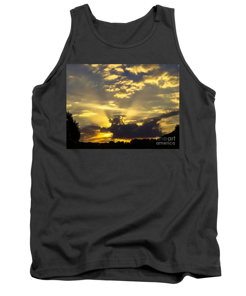 Rays Of Sunlight Tank Top featuring the photograph Rays Of Sunlight by Zina Stromberg