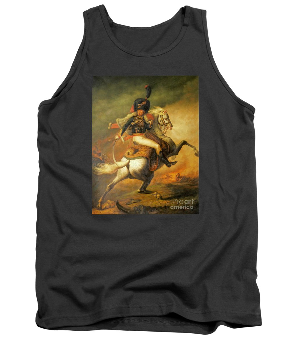 Art Tank Top featuring the painting Re Classic Oil Painting General On Canvas#16-2-5-08 by Hongtao Huang