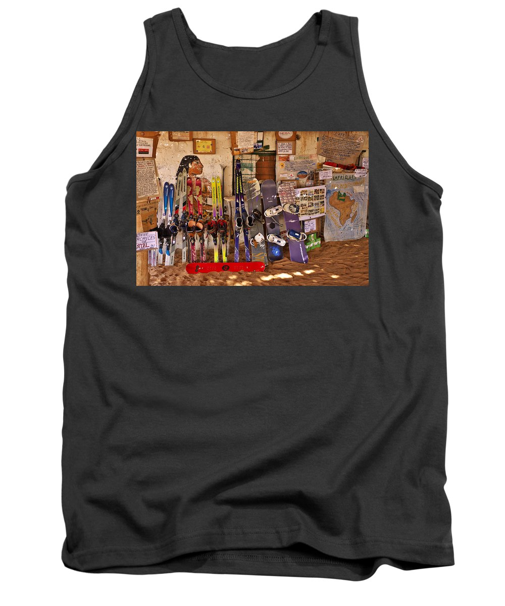 Sandy Tank Top featuring the photograph Ready For Sand Skiing by Ivan Slosar