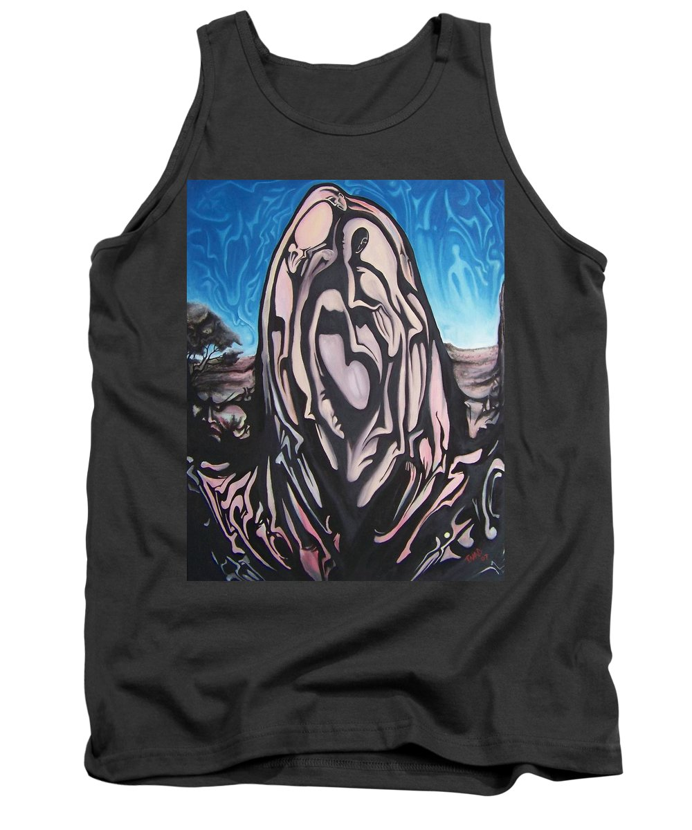 Tmad Tank Top featuring the painting Recluse by Michael TMAD Finney