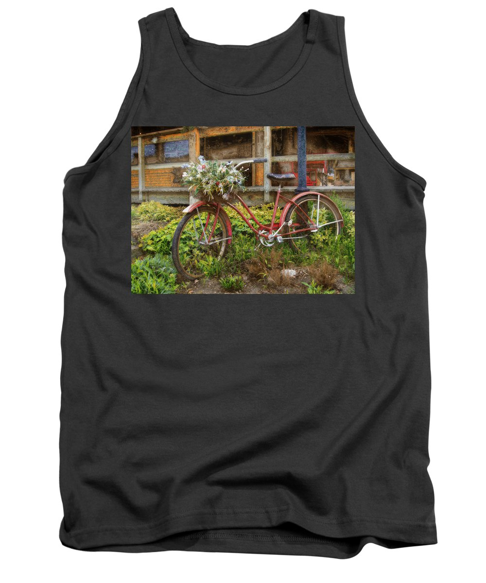 Bicycle Tank Top featuring the photograph Red Bicycle by John Anderson