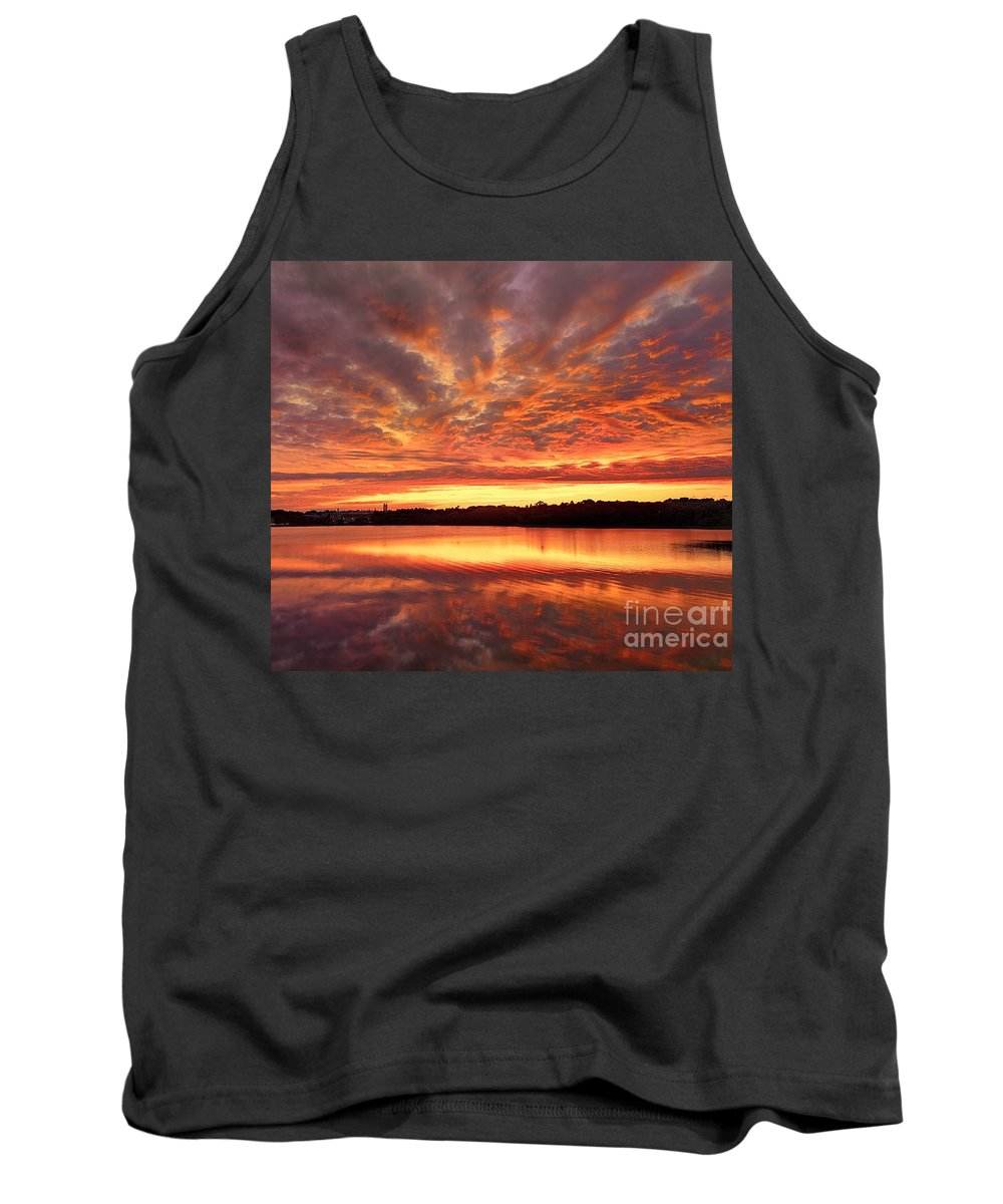 Boston Tank Top featuring the photograph Red Burning Sky by Ludmila Nayvelt