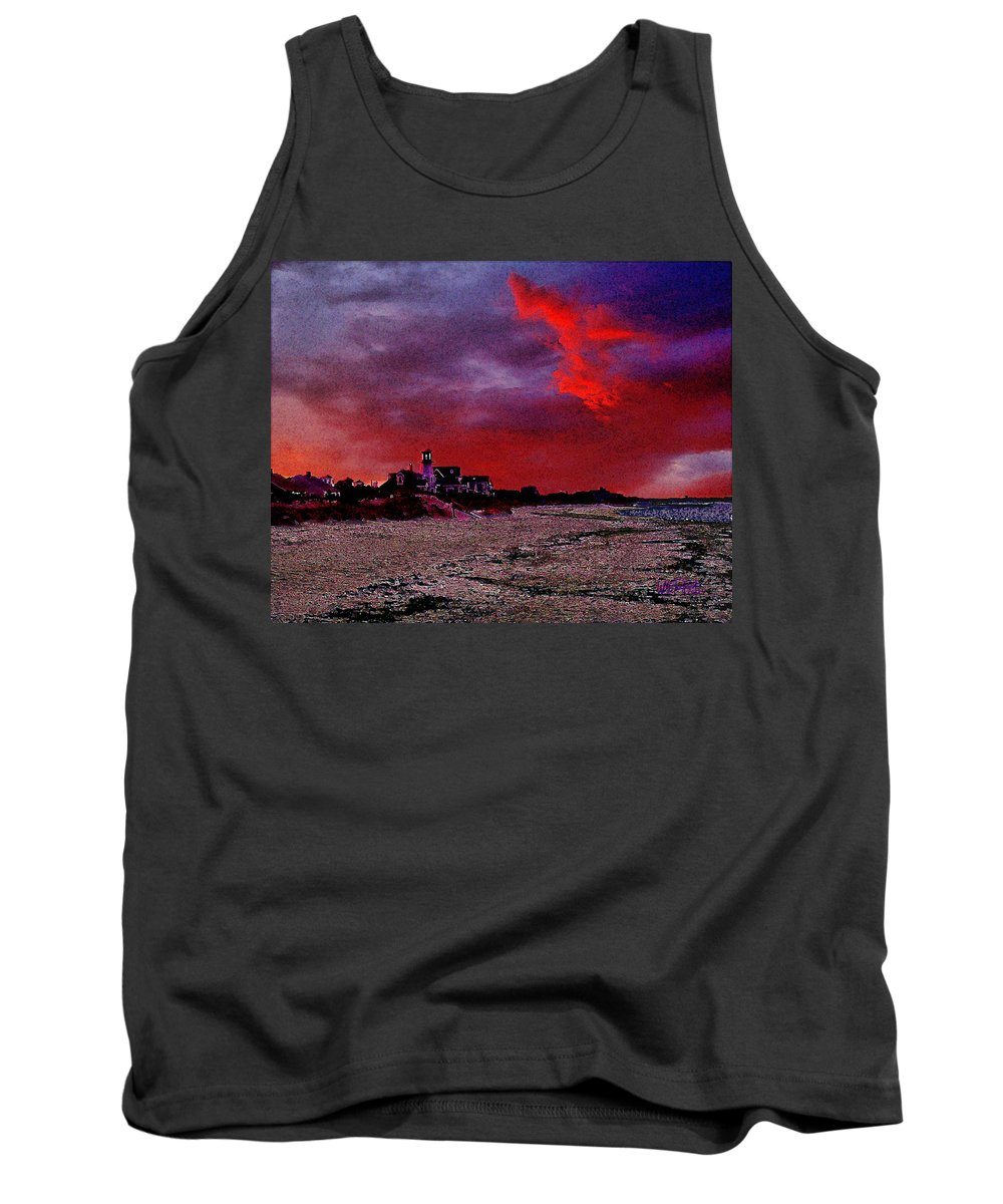 Beach Tank Top featuring the digital art Red Dawn by William Sargent