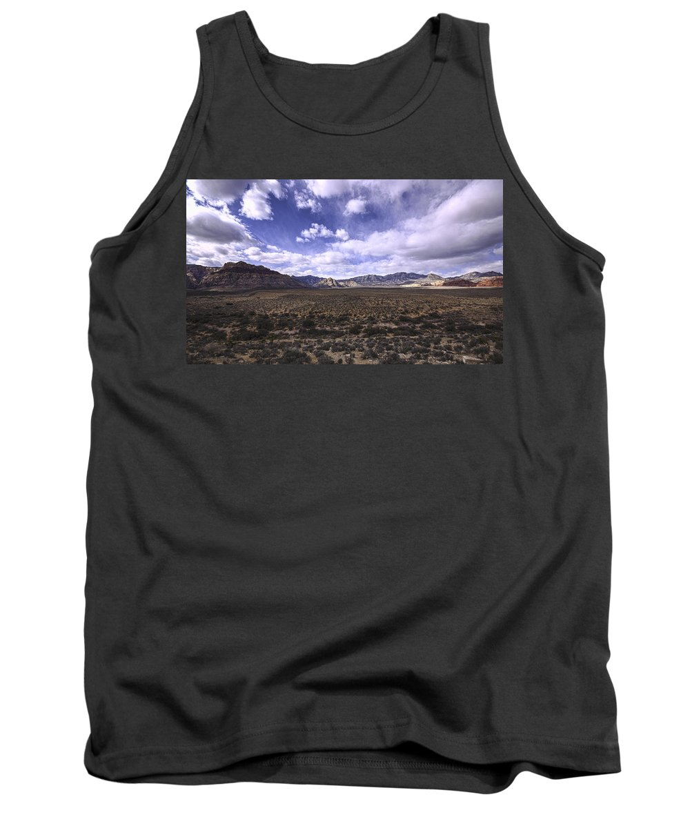 Red Rock Canyon Tank Top featuring the photograph Red Rock Canyon Nevada by Mike Herdering
