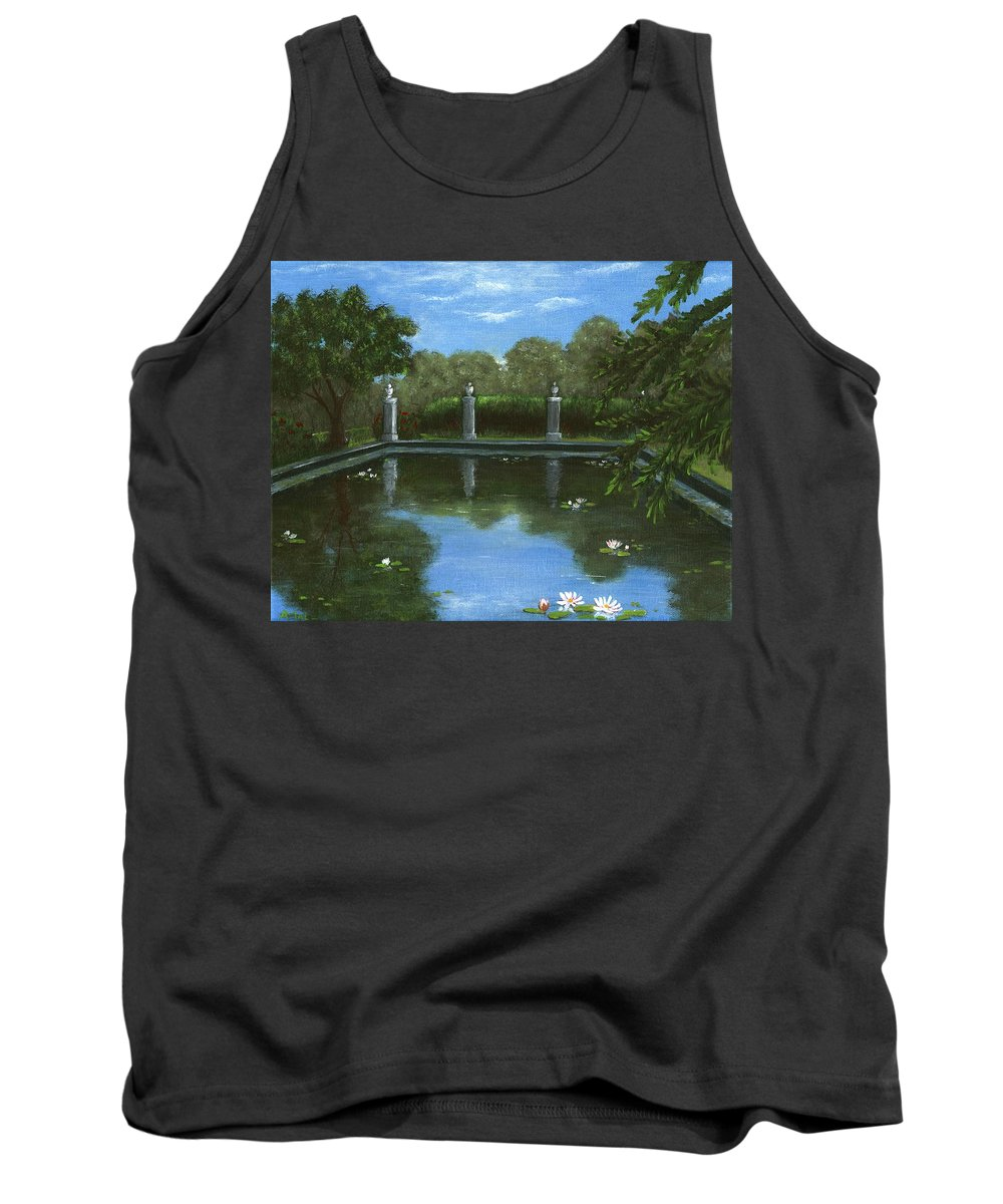 Interior Tank Top featuring the painting Reflecting Pool by Anastasiya Malakhova