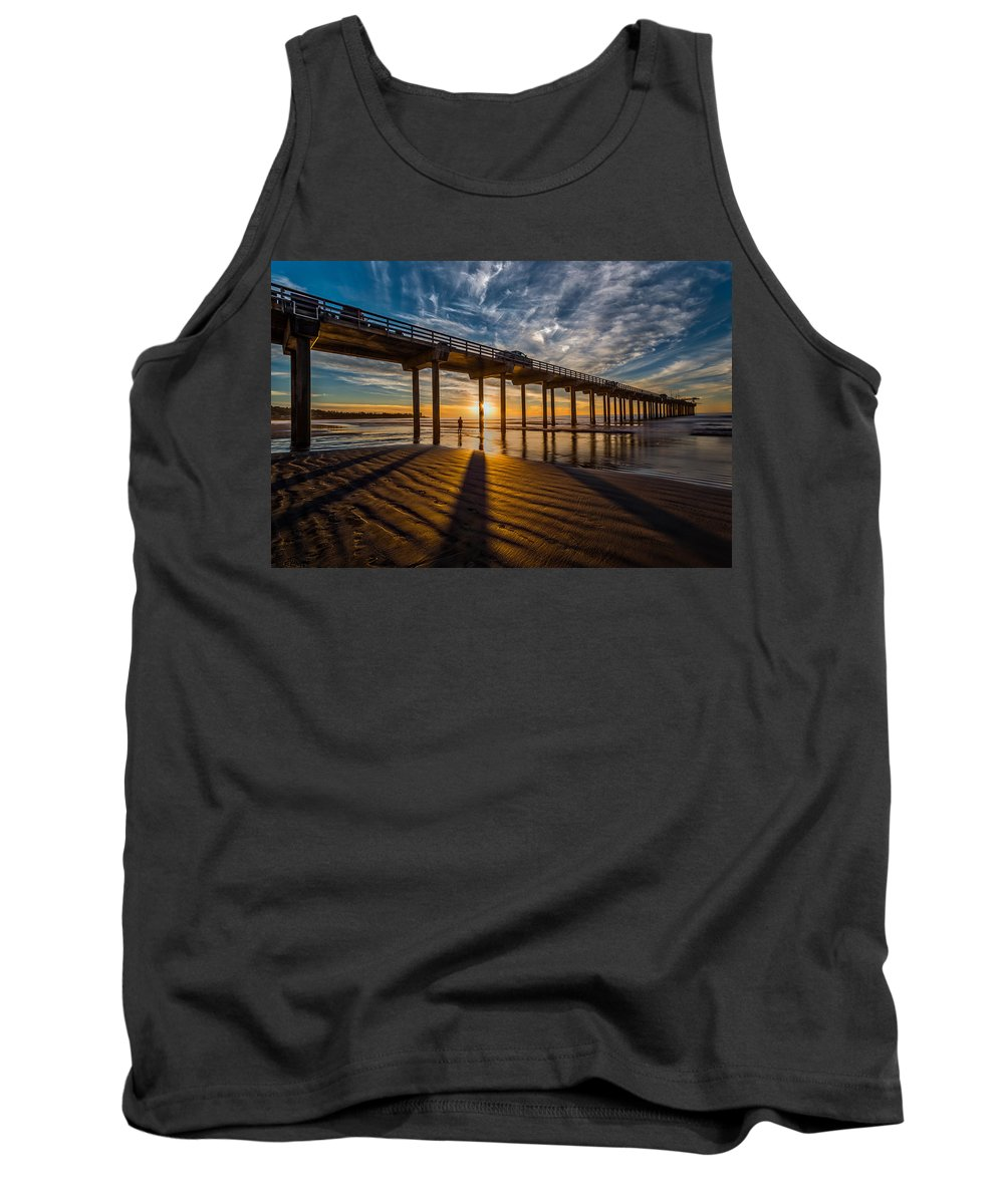 Architecture Tank Top featuring the photograph Reflection And Shadow by Peter Tellone