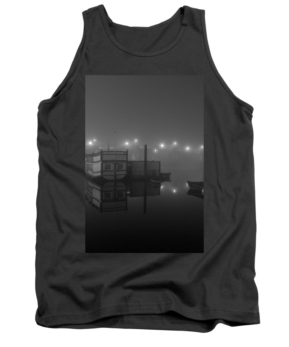 Thames River Tank Top featuring the photograph Reflection On Misty Thames by Maj Seda