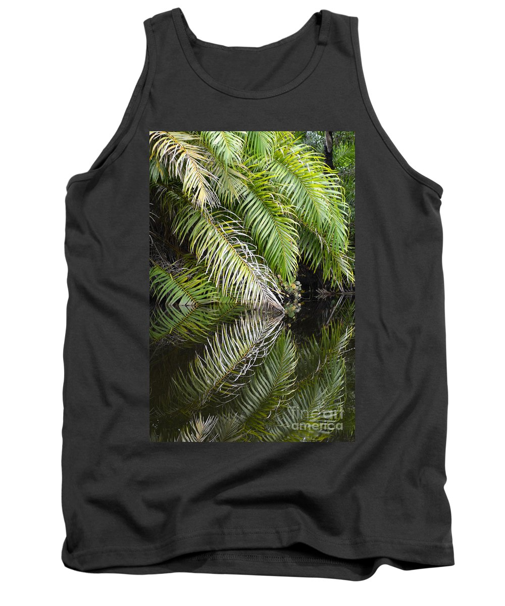 Beauty Beauty Of Reflections Tank Top featuring the photograph Reflections Marimbus River Brazil 1 by Bob Christopher