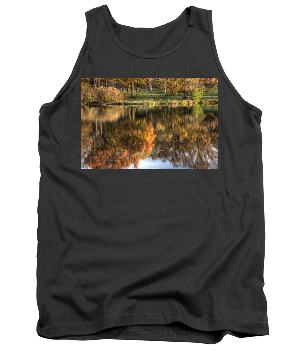 Fall Tank Top featuring the photograph Reflections Of Fall by Lindley Johnson
