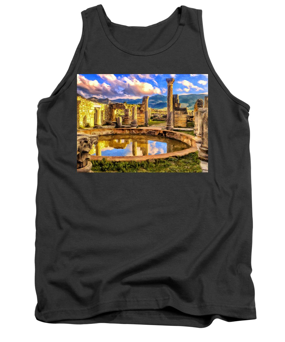 Ruins Tank Top featuring the painting Reflections Of Past Glory by Dominic Piperata