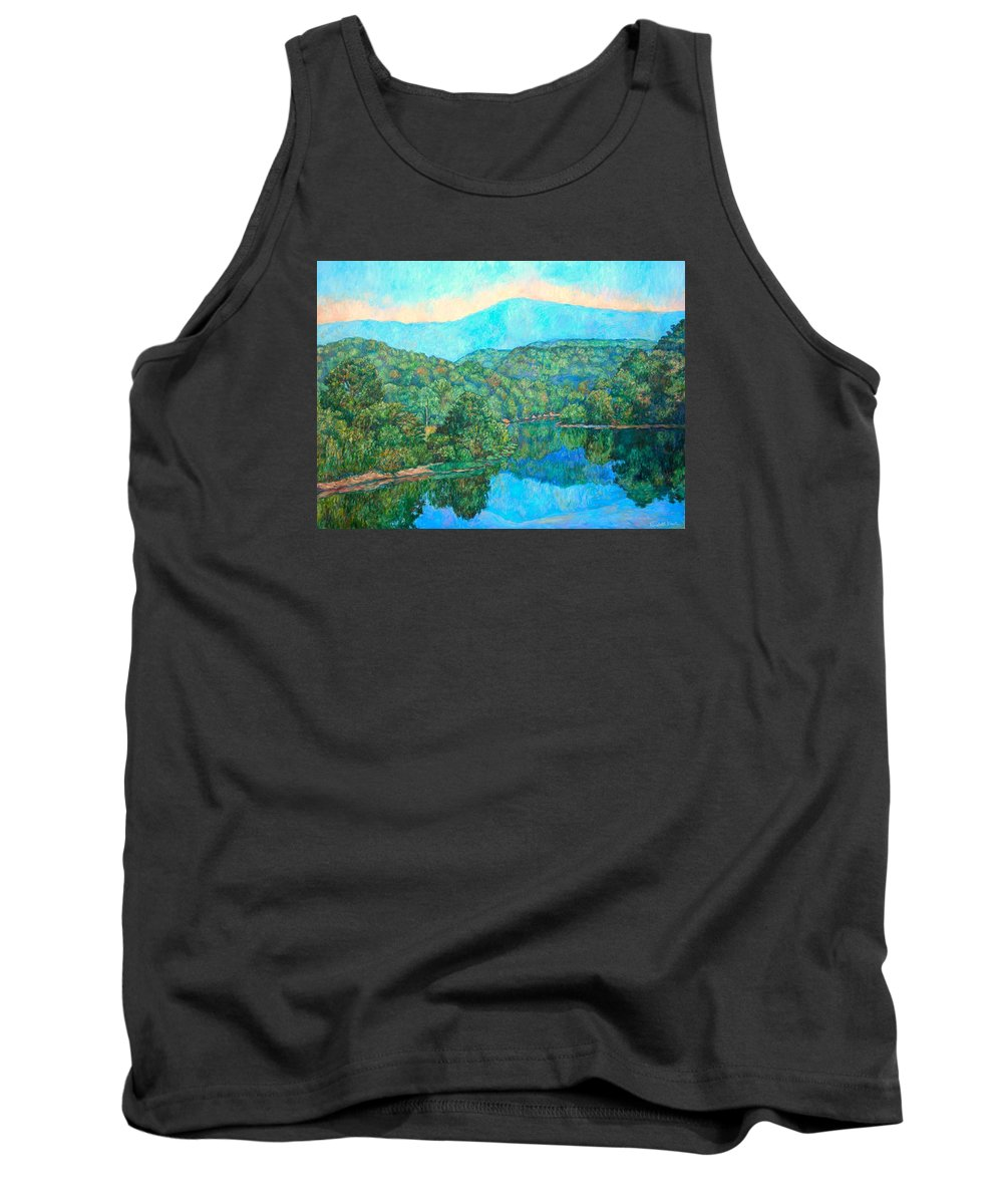 Mountainscape Tank Top featuring the painting Reflections On The James River by Kendall Kessler
