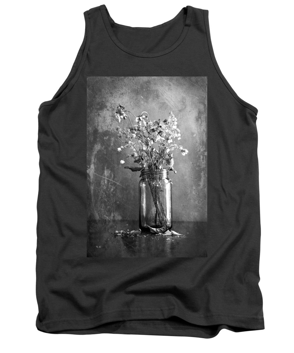Vintage Jar Tank Top featuring the photograph Remains Of The Season by Theresa Tahara