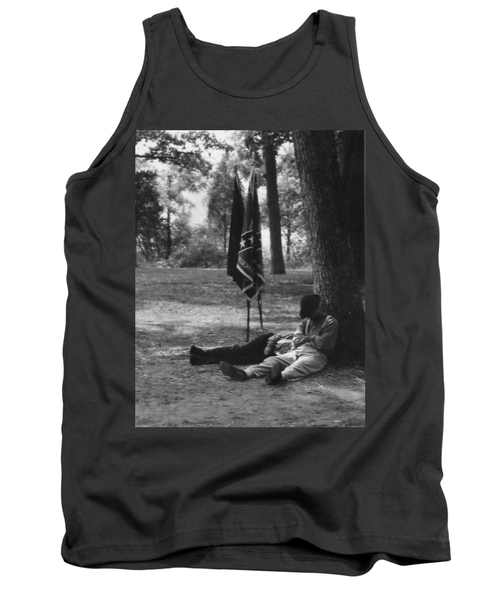 Black And White Tank Top featuring the photograph Resting At Gettysburg by Eric Liller