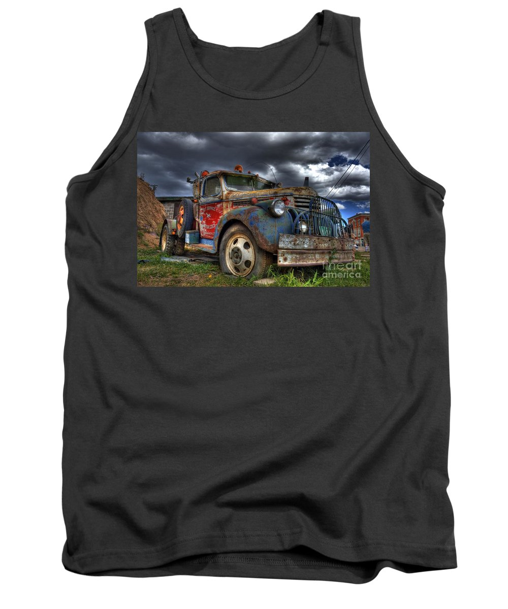 Chevrolet Tank Top featuring the photograph Retired by Tony Baca