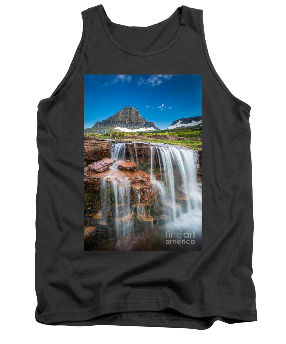 America Tank Top featuring the photograph Reynolds Mountain Falls by Inge Johnsson